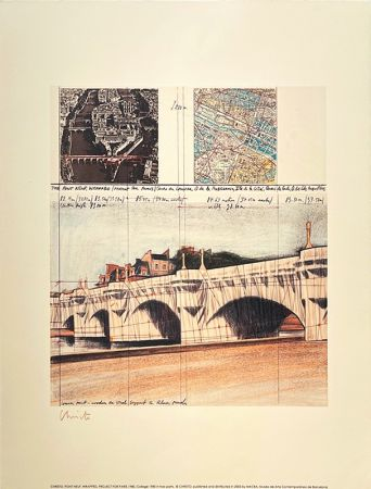 Lithographie Christo - Pont neuf, Paris