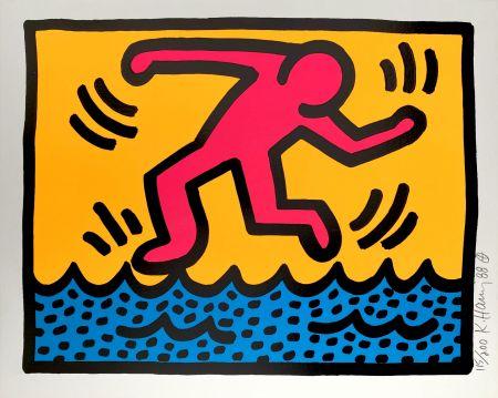 Siebdruck Haring - Pop Shop II, C