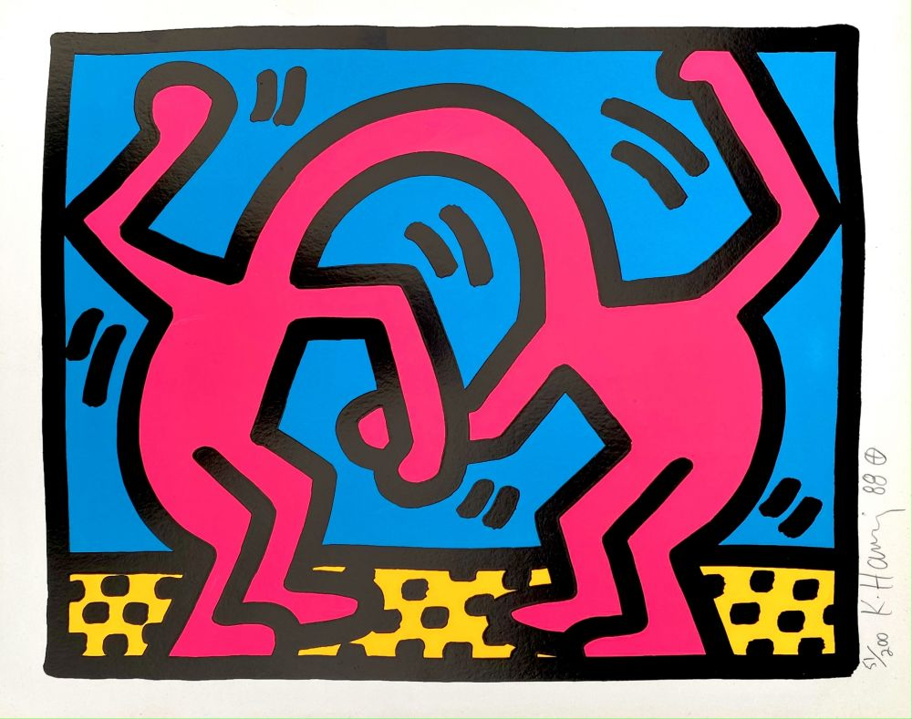 Siebdruck Haring - Pop Shop II, D