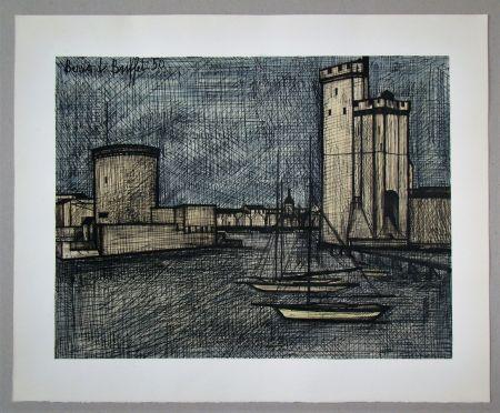 Lithographie Buffet - Port de la Rochelle, 1950