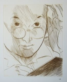 Kaltnadelradierung Marcoussis - Portrait