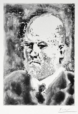 Radierung Und Aquatinta Picasso - Portrait d'Ambroise Vollard III
