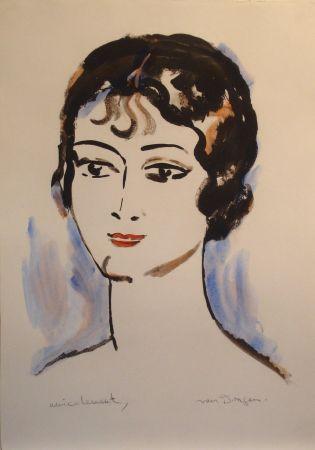 Lithographie Van Dongen - Portrait de Jeune Femme