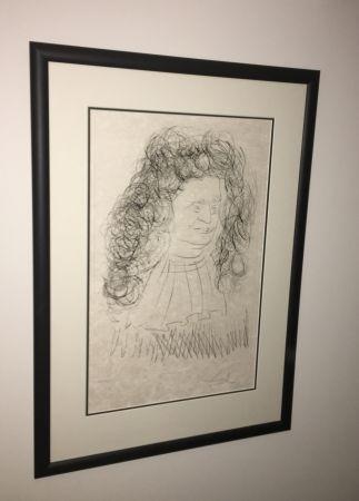 Radierung Und Aquatinta Dali - Portrait De La Fontaine