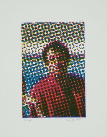 Radierung Und Aquatinta Jacquet - Portrait de Mario Schifano