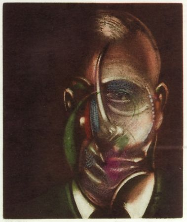 Radierung Und Aquatinta Bacon - Portrait de  Michel Leiris