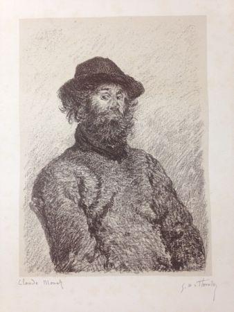 Lithographie Monet - Portrait de Poly