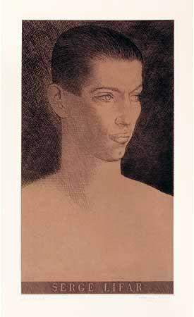 Stich Marcoussis - Portrait de Serge Lifar