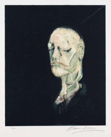 Lithographie Bacon - Portrait de William Blake