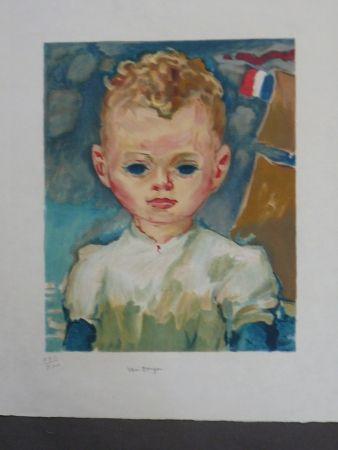 Lithographie Van Dongen - Portrait d'enfant