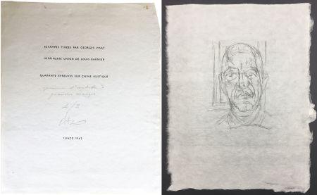 Kaltnadelradierung Giacometti - Portrait du célèbre Orbandale (Ilia Zdanevitch dit Iliazd)