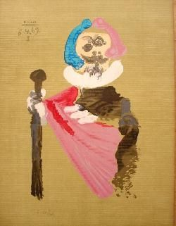 Lithographie Picasso - Portrait Imaginair 6-4-69 I
