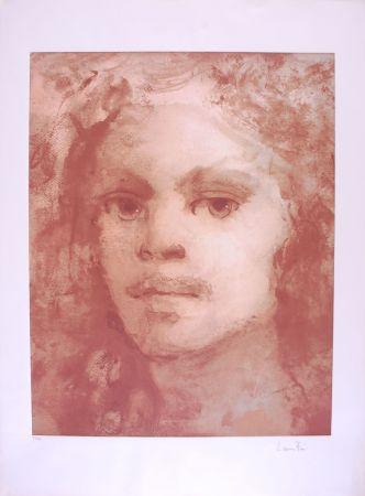 Lithographie Fini - Portrait imaginaire