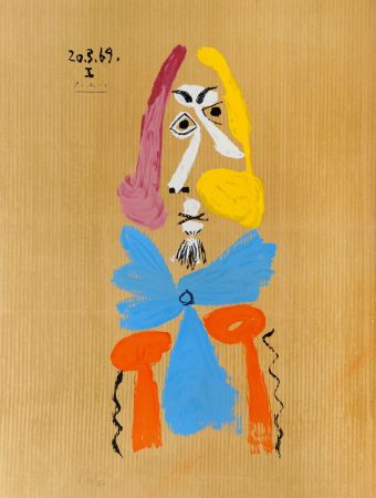 Lithographie Picasso - Portrait Imaginaire - 20.3.69. I