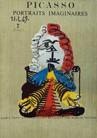 Lithographie Picasso - Portrait Imaginaire 21.2.69 I