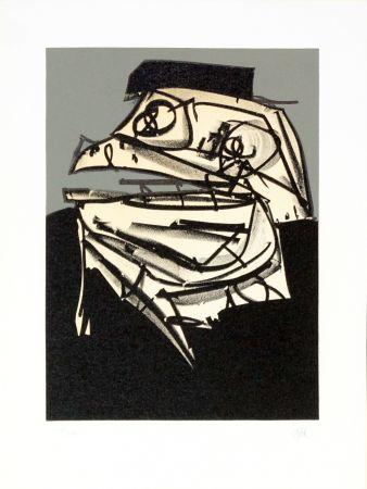 Lithographie Saura - Portrait IX