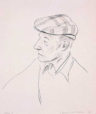 Lithographie Hockney - PORTRAIT OF BURROUGHS