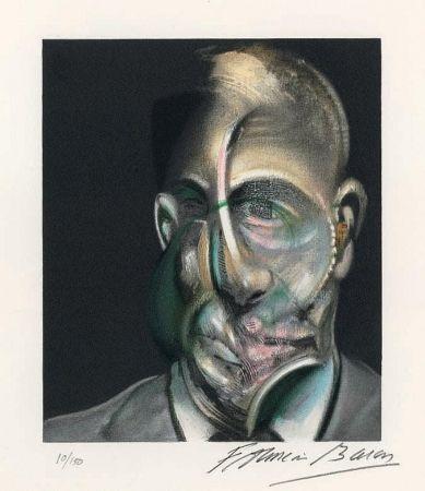 Lithographie Bacon - Portrait of Michel Leiris