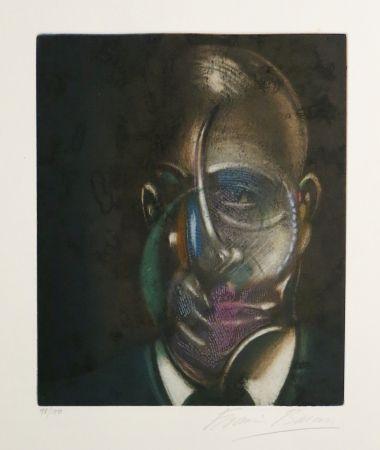 Aquatinta Bacon - Portrait of Michel Leiris
