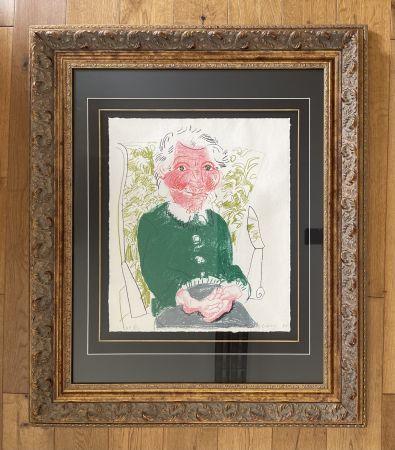 Lithographie Hockney - Portrait of Mother 1