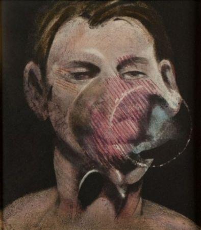 Radierung Und Aquatinta Bacon - Portrait of Peter Beard I