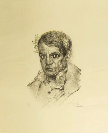 Stich Dali - Portrait of Picasso