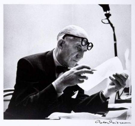 Fotografie Le Corbusier - Portrait par Robert Doisneau