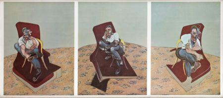 Lithographie Bacon - Portrait Von Lucien Freud