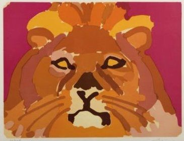 Lithographie Lapicque - Portrati de leon