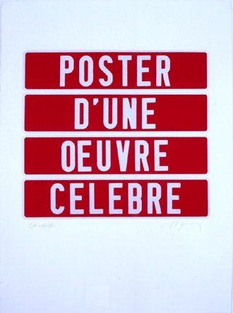 Siebdruck Ducorroy - Poster d'une oeuvre célèbre
