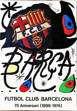 Keine Technische Miró -  Poster for the 75th Anniversary of the Barcelona Football Club