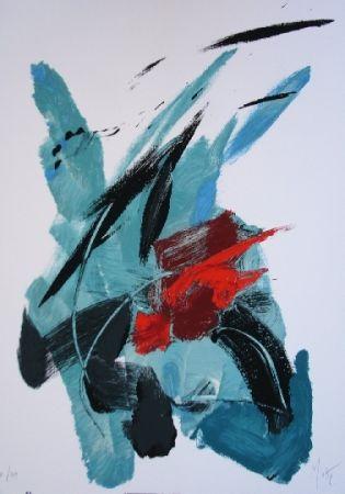 Lithographie Miotte - Pour Garcia Lorca