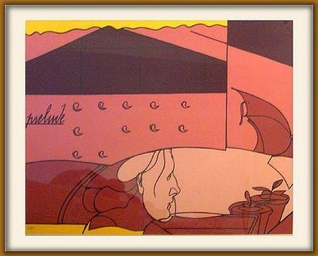 Siebdruck Adami - Prelude