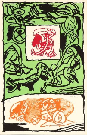 Lithographie Alechinsky - Première Acte