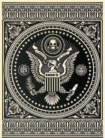 Siebdruck Fairey - Presidential Seal Black