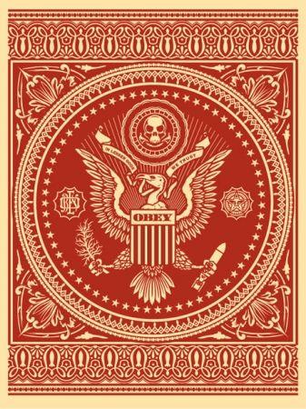 Siebdruck Fairey - Presidential Seal Red