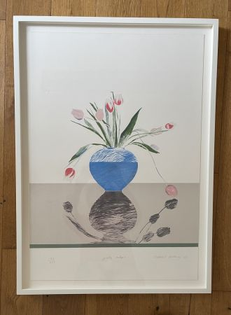 Lithographie Hockney -  Pretty Tulips