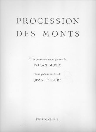 Illustriertes Buch Music - Procession des monts