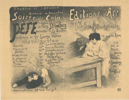 Lithographie Vallotton - Programme pour