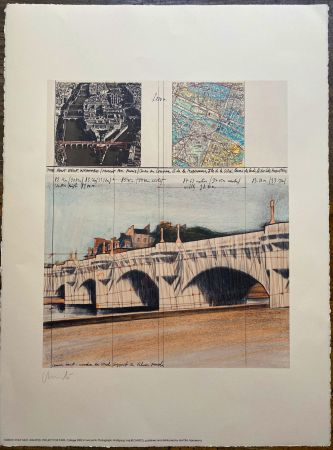 Lithographie Christo - Project pour Pont Neuf, Wrapped