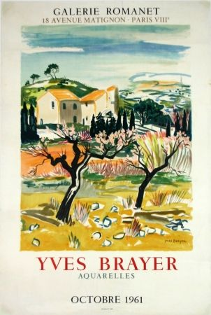 Lithographie Brayer - Provence Galerie Romanet