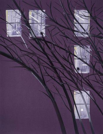 Siebdruck Katz - Purple Wind