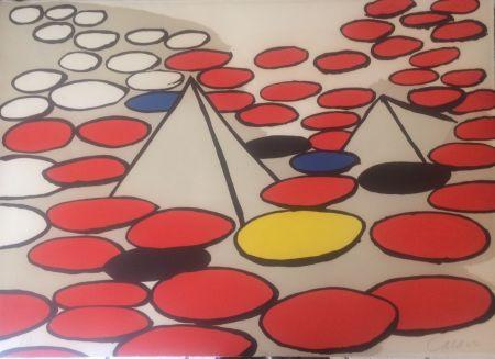 Lithographie Calder - Pyramides