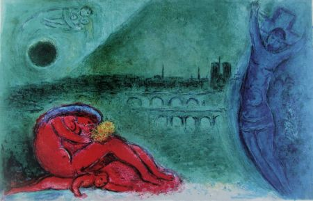 Lithographie Chagall - Quai De La Tournelle (Regards Sur Paris)