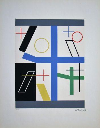 Siebdruck Taeuber-Arp - Quatre espaces à croix brisée