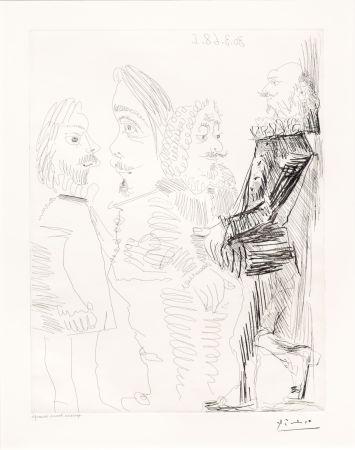 Stich Picasso - Quatre Hommes en Costume