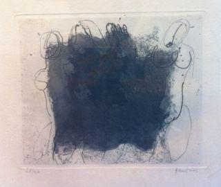 Radierung Und Aquatinta Fautrier - Quatre Nus Violets
