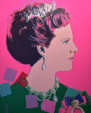 Siebdruck Warhol - Queen Margrethe II of Denmark (FS II.345)