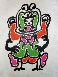 Lithographie Lapicque - Quetzalcoalt