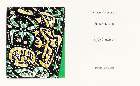 Illustriertes Buch Masson - R. Desnos: MINES DE RIEN. 4 gravures originales en couleurs (1957).